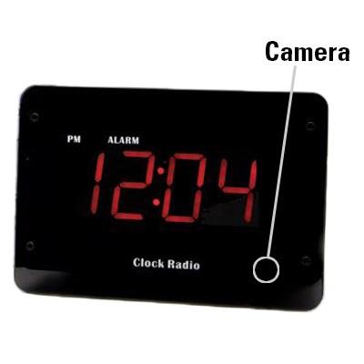 Clock Radio Hidden 4k Camera w/ Night Vision & DVR